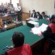 M Sohib (menggunakan rompi orange) saat menjalani sidang tuntutan, Senin (9/9/2019)