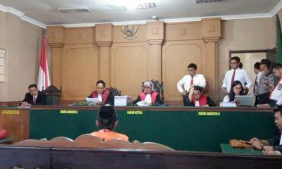 M Sohib saat menjalani persidangan di pengadilan negeri Bangkalan
