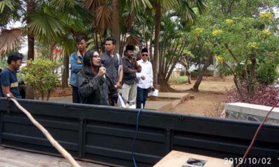 Risang Bima Wijaya saat berorasi didepan kantor Pemkab Bangkalan,(2/9/2019)