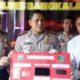 Kapolres Bangkalan AKBP Rama Samtama Putra saat menunjukkan barang bukti sabu seberat 84 gram di Mapolres Bangkalan, Selasa (5/11/2019)