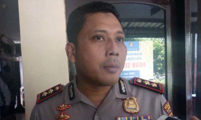 Kapolres Bangkalan AKBP Rama Samtama Putra saat diwawancarai