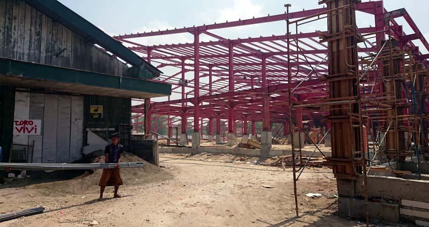 Salahsatu bangunan pasar Tanah Merah
