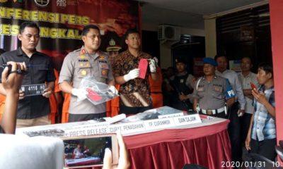 Kapolres Bangkalan AKBP Rama Samtama Putra Saat Merilis kasus curat