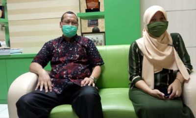 Kepala Dinas Kesehatan Bangkalan, Sudiyo bersama Kabid pengadaan barang Dinkes Bangkalan, Yuyun