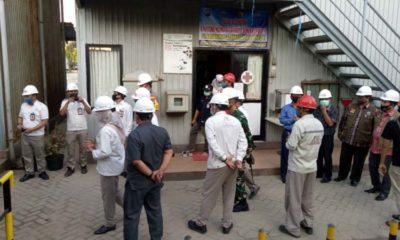 Forkopimda Bangkalan saat melakukan launching industri tangguh