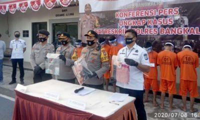 Kapolres Bangkalan saat merilis Pemerkosaan