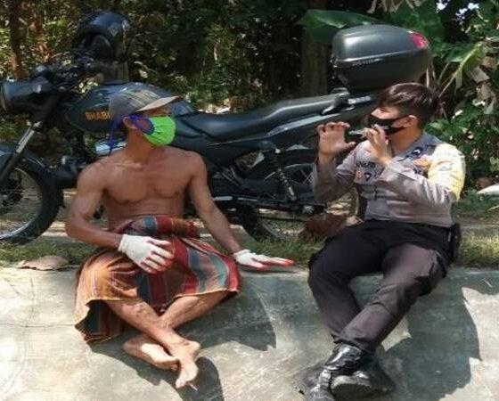 Anggota Bhabinkamtibmas Desa Sembilangan, Bripda Herlambang Wahyu Anafis Satriatama. (lia)